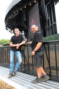 Cees Muurling & Appi Thörig from  Mojo Barriers at Madonna Tour in Hyde Park 2012-24