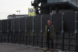 Stanley Jilesen's High Fence installation outside the Rotterdam Ahoy